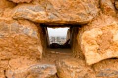 Wierza ciszy okno przy wierzchołkiem Obraz Stock