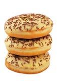 Wierza czekoladowi donuts Obrazy Royalty Free