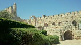 Wierza David podwórze w Jerozolima obrazy stock