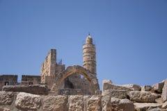 Wierza David, w Jerozolimskim starym mieście Zdjęcia Stock