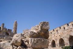Wierza David, w Jerozolimskim starym mieście Obraz Stock
