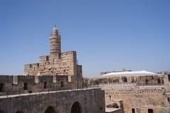 Wierza David, w Jerozolimskim starym mieście Zdjęcia Royalty Free