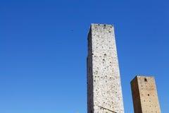 Wierza domy w San Gimignano, Tuscany, Włochy Obrazy Stock