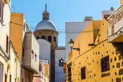 Wierza Farny kościół - Aguimes, Gran Canaria, Hiszpania Obrazy Stock