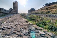 Wierza genua forteca w Sudak Crimea obraz royalty free