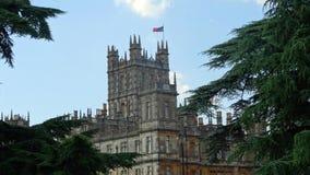 Wierza Highclere kasztel, Downton opactwo Zdjęcie Royalty Free