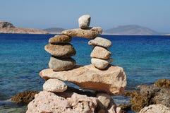 Wierza kamienie, Halki wyspa zdjęcia stock