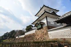 Wierza Kanazawa kasztel jest zwiedzający Kanazawa Obrazy Royalty Free