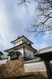 Wierza Kanazawa kasztel jest zwiedzający Kanazawa Fotografia Stock
