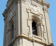 Wierza kościół Pilar Saragossa Aragon zabytki zdjęcie royalty free