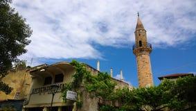 Wierza minaret Ahmet aga w historycznym centre Chania Fotografia Stock