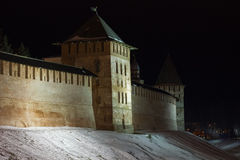 Wierza Novgorod Kremlin, Historyczni zabytki Novgorod i otoczenia, Rosja Obraz Stock