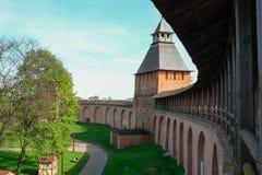Wierza Novgorod Kremlin, Historyczni zabytki Novgorod i otoczenia, Rosja Fotografia Stock