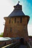 Wierza Novgorod Kremlin, Historyczni zabytki Novgorod i otoczenia, Rosja Fotografia Royalty Free