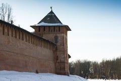 Wierza Novgorod Kremlin, Historyczni zabytki Novgorod i otoczenia, Rosja Obrazy Royalty Free