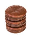 Wierza od czekoladowego ciastka faszerującego Zdjęcie Royalty Free