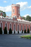 Wierza Petrovsky pałac wieczór Obrazy Stock