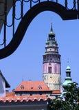 Wierza przy Cesky Krumlov Zdjęcie Stock