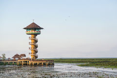 Wierza przy Thale Noi w Phatthalung, Tajlandia Zdjęcie Stock