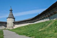 Wierza Pskov Kremlin w Rosja Obraz Royalty Free