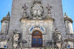 Wierza St Mary wniebowzięcie w Arcos De La Frontera, Hiszpania Zdjęcie Stock
