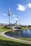 Wierza stadium Olympiapark w Monachium Zdjęcia Stock