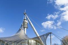 Wierza stadium Olympiapark w Monachium Zdjęcie Royalty Free