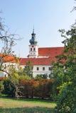 Wierza StMargaret kościół stary Brevnov monaster obraz royalty free