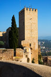 Wierza Suda kasztel w Tortosa obraz stock