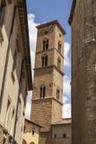 Wierza Volterra katedra, Torre Campanaria, Tuscany, Włochy Obraz Stock