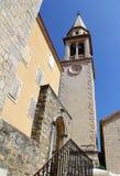 Wierza w centre Budva. Montenegro. Obrazy Stock