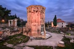 Wierza wiatry Romańska agora w ranku i, Ateny, Greec Obrazy Royalty Free
