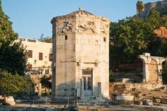 Wierza wiatry w Antycznej agorze. Grecja. Zdjęcie Stock