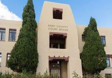 Wierza wiru okręgu administracyjnego gmach sądu w Karlsbadzki Nowym - Mexico Zdjęcia Stock