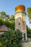 Wierza woda, stary depozyt park, Może Soley Badalona Barcelona, Hiszpania Obrazy Royalty Free
