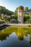 Wierza woda, stary depozyt park, Może Soley Badalona Barcelona, Hiszpania Obraz Royalty Free
