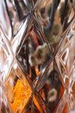 Wierzbowe bazie w geometrycznym szkle Fotografia Stock