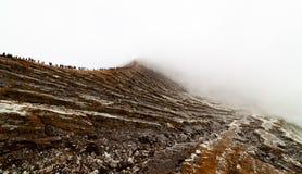 Wierzchołek Ijen wulkan zdjęcie stock