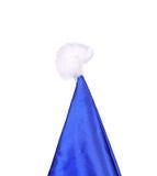 Wierzchołek Święty Mikołaj conical błękitny kapelusz. Fotografia Royalty Free