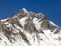 Wierzchołek Lhotse, południe skały twarz Zdjęcia Royalty Free