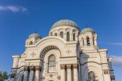 Wierzchołek St. Michael archanioła kościół fotografia stock
