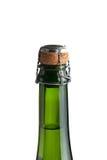 Wierzchołek szampańska butelka z korkiem. Obraz Stock