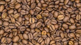 Wierzchołek widok piec kawowe fasole obraz stock