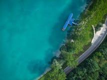 Wierzchołka puszka widok z lotu ptaka nad Najwięcej na Soci, Slovenia obrazy royalty free