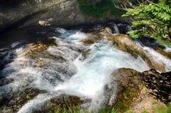 Wierzchołek Cascada Del Estrecho w Ordesa parku narodowym zdjęcie royalty free