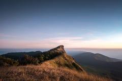 Wierzchołek góra Monjong w wieczór, Chiang Mai Obrazy Stock