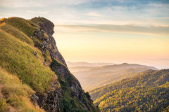 Wierzchołek góra w Monjong, Chiang Mai Obrazy Royalty Free