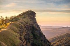 Wierzchołek góra w Monjong, Chiang Mai, Tajlandia Obrazy Stock