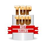 Wierzchołka 100 bestsellery Fotografia Royalty Free