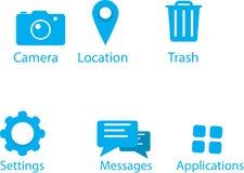 Wierzchołka 6 mobilne ikony Obraz Royalty Free